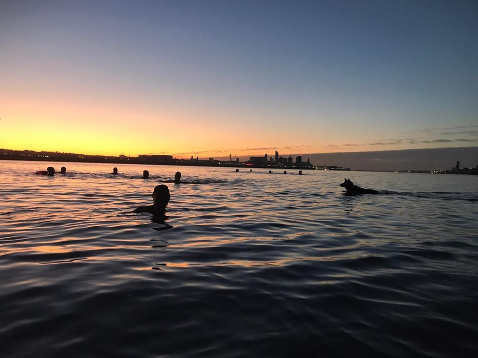 Dawn swim in the Mersey, October 2019 (photo: Chris Shaw)